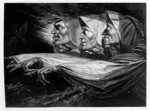 2 H. Fuseli.  Three Witches.  1783. The Forrest Collection.  Macbeth Vol. 1.  S790.1 F