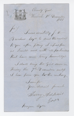 MS 244/1/5/2/1/10c Letter from Harry Adkins
