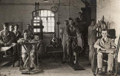The Gymnasium. Birmingham Hospitals, Highbury, First World War.