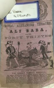 Theatre Royal Prompt Book - Ali Baba [MS 2899]