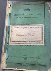 Theatre Royal Prompt Book - Number Nip [MS 2899]