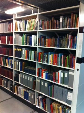 Birmingham Collection behind the scenes - titles not available on the open shelves can be requested from staff.