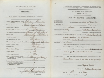 Reception Order for Charles Record  [HC AS/15/1]