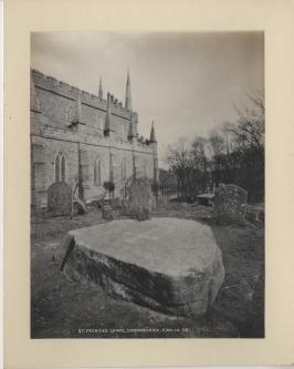 Saint Patrick's Grave, Downpatrick by Robert Welch [C19] [MS 3196]