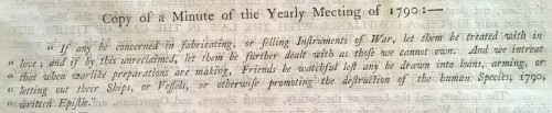 Yearly Meeting minute 1790 (ref MS 3101/B/16/2)