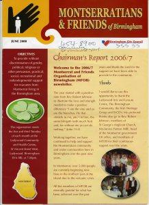 Newsletter of Montserratians & Friends of Birmingham [June 2008] [MS 4755]