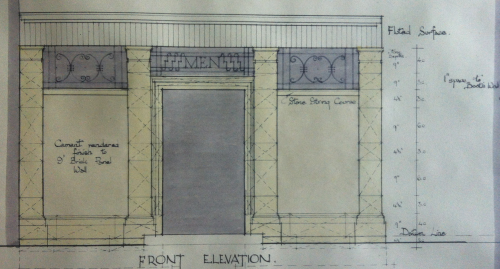 Colour front elevation showing the convenience