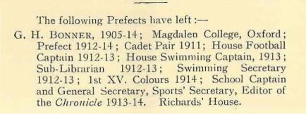 King Edward's School Chronicle. Vol XXIX No. 207 October 1914 p.55