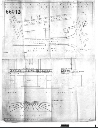 Birmingham Building Plan The Electric 1936 [66013]