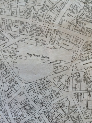 Ordnance Survey 1937/8 Edition. Note the fours cinemas around New Street Station.