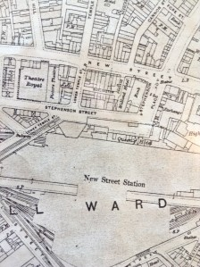 Ordnance Survey, 1918 Edition. Note the Picture Theatre next to the Theatre Royal.