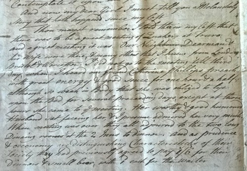 Extract from MS 3782/14/76/8, letter from Matthew Boulton to his daughter Anne.