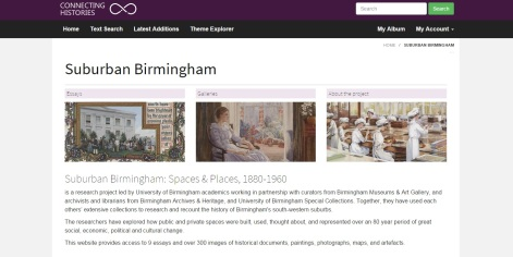 Suburban Birmingham on Connecting Histories