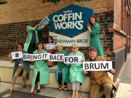 Bring it back for Brum - outside the Coffin Works