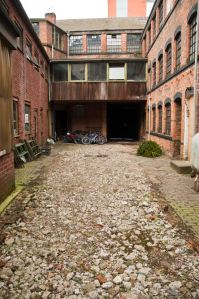 Courtyard before restoration