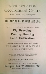 MS 3927 - Flyer for Moor Green Farm