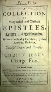 Q094-1698-15 F1764 George Fox A collection of epistles