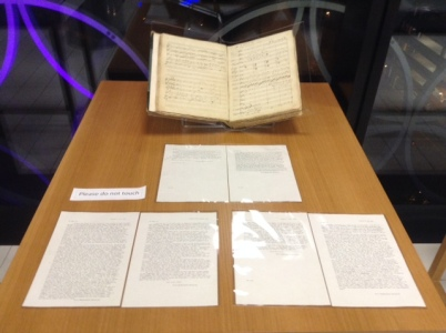 Elijah and transcripts of the Mendelssohn letters on display at the exhibition