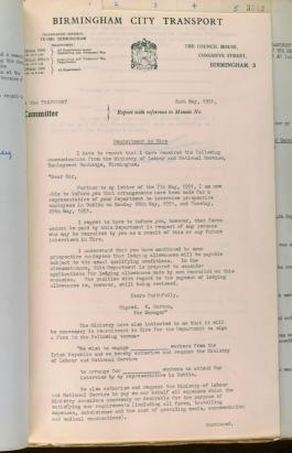 Tramways Committee Minute Book. 1951 - 1952 [BCC/1/BE/1/1/25]