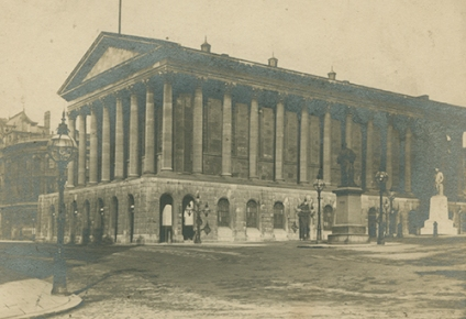 Exterior view of Birmingham Town Hall. Photographed in 1891. [WK/B11/407]