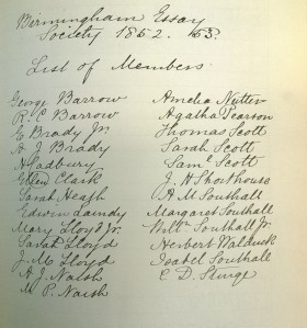 LF 18.6 Friends Essay Society members 1852