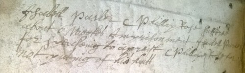 Sufferings for not removing hat - QM mins 1660s