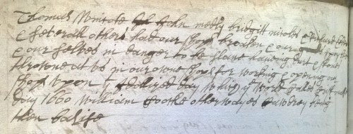 Sufferings for opening shop - QM mins 1660s