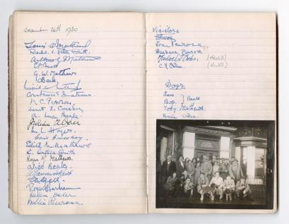 List of members and group photograph, December 1930. [MS 610]