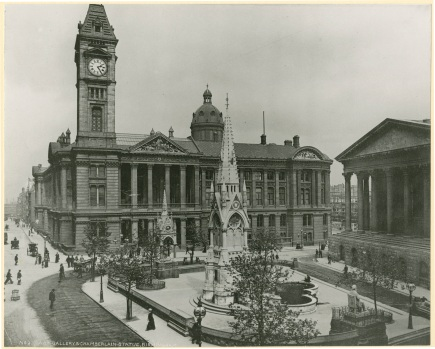 Art Gallery and Chamberlain Statue, Birmingham [WK/B11/6402]