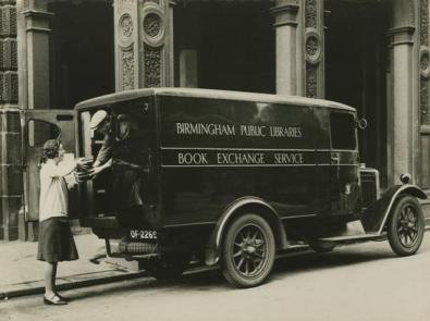 Birmingham Public Libaries Book Exchange Service Vehicle. [WK-B11-1004]