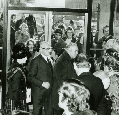 Harold Wilson opening the Birmingham Central Library. 12 January 1974.