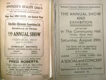 Stirchley and Billesely Allotments Association Annual Show