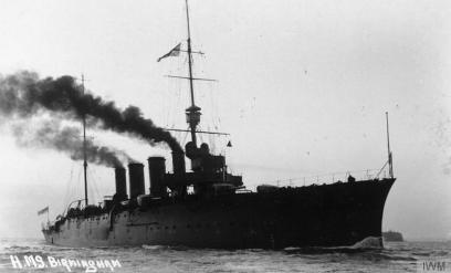 HMS Birmingham at the Battle of Jutland © IWM (Q 75365)