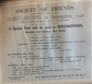 Yearly Meeting scrapbook, 1908 (ref. SF/2/1/1/16/2/1/2)