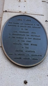Plaque commemorating the first health food store  to be opened in the country.  (C) Fiona Tait