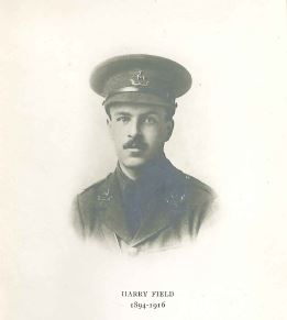 Portrait of Henry Field who was killed at the Battle of the Somme, 1 July 1916. [L07.3 COR Poems and Drawings]