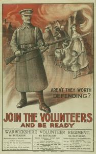 Campaign poster. First World War.