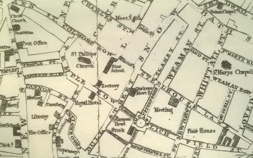 Map showing Bull St. 1819