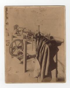 The workbench in James Watt's workshop [MS 3147/31/7]