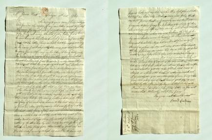 Letter regarding the death of John Watt [MS 3219/3/125]